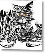 Family Cat Metal Print