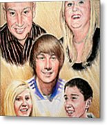 Family Collage Commissions Metal Print