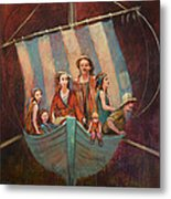Family Vessel Metal Print by Jennifer Croom