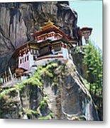 Famous Tigers Nest Monastery Of Bhutan 7 Metal Print