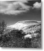 Fan Fawr Brecon Beacons 1 Mono Metal Print