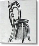 Fanback Parlor Chair Metal Print