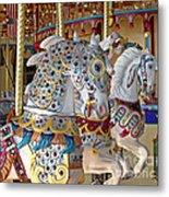 Fanciful Carousel Ponies Metal Print