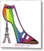 Fancy Parisian Shoe Metal Print