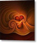 Fanfare Orange Metal Print