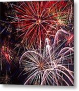 Fantastic Fireworks Metal Print