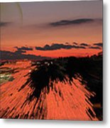 Fantastic Space Sunset Metal Print