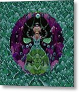 Fantasy Cat Fairy Lady On A Date With Yoda. Metal Print