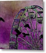 Fantasy Ferris-wheel Metal Print