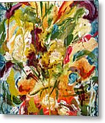 Fantasy Floral 1 Metal Print by Carole Goldman