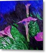 Fantasy Flowers Watercolor 2 Hp Metal Print