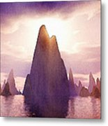 Fantasy Islands Metal Print