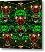 Fantasy Leather Heads In A Scenery Metal Print