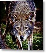 Fantasy Red Wolf Metal Print