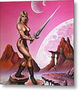 Fantasy Warrior Princess Metal Print