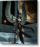 Fantasy Winged Female Warrior Metal Print