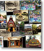 Fantasyland Disneyland Collage Metal Print