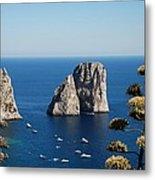 Faraglioni In Capri Metal Print