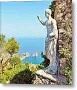 Faraglioni Rocks From Mt Solaro Capri Metal Print