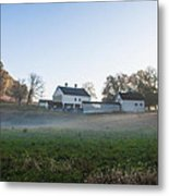 Farm At Valley Forge In Morning Metal Print