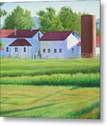 Farm At Willow Creek Metal Print