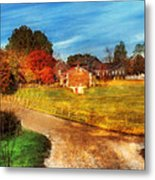 Farm - Barn -  A Walk In The Country Metal Print by Mike Savad