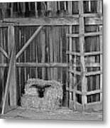 Farm Barn Scene Metal Print