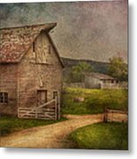 Farm - Barn - The Old Gray Barn  Metal Print