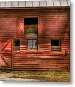 Farm - Barn - Visiting The Farm Metal Print by Mike Savad