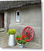 Farm Cottage Metal Print