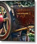 Farm Equipment - New Holland Feed And Cob Mill Metal Print by Paul Ward