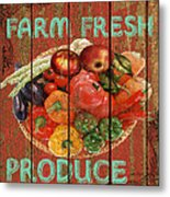 Farm Fresh Produce Metal Print