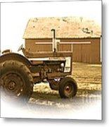 Farm Heritage Vignette  Metal Print
