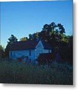Farm Home At Dusk Metal Print