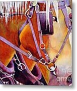Farm Horses Metal Print by Robert Hooper