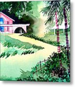 Farm House New Metal Print