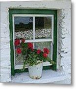 Farm House Window Metal Print