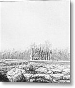 Farm House With Caves Metal Print