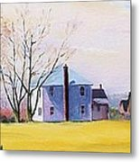 Farm In Spring Metal Print