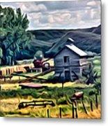 Farm Look Metal Print