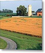Farm Nr Mountville Lancaster Co Pa Usa Metal Print