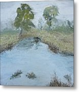 Farm Pond Metal Print