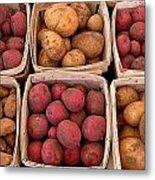Farm Potatoes Metal Print