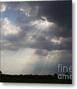Farm Sunbeams Metal Print