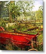 Farm - Tool - A Rusty Old Wagon Metal Print