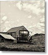 Farm Truck - 1941 Chevy In Sepia Metal Print
