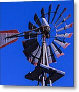 Farm Windmill Metal Print