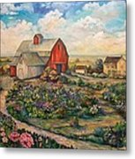 Farm Woman Metal Print by Kendra Sorum