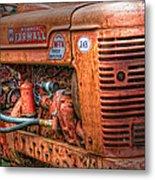 Farmall Tractor Metal Print by Bill Wakeley