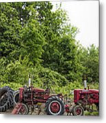 Farmall Tractors All In A Row Metal Print